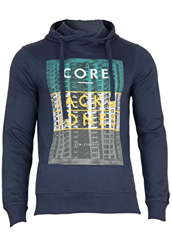 Jack & Jones sweatshirt Jjcoeverett sweat Cross hood slim Navy Blazer