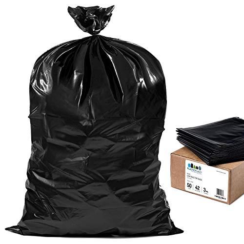 33W x 48H Plasticplace 35 Gallon Trash Bags 100 // Case 33W x 48H AX-AY-ABHI-75490 1.5 Mil Black