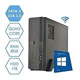 MINI PC DESKTOP COMPUTER FISSO • LICENZA WINDOWS 10 PRO • ASSEMBLATO COMPLETO Intel QUAD-CORE fino a 2.3 GHZ • RAM 8GB • HD 1TB • MASTERIZZATORE • WIFI • 350W • DILC MICRO GOLD