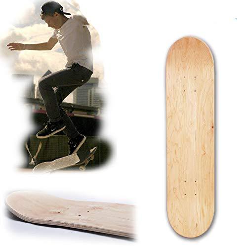 Skateboard Deck, 8inch Maple Blank Double Konkave Skateboards Natur Skate Deck Board Skateboards Deck Holz Ahorn -
