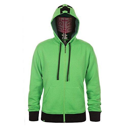 Minecraft Creeper Anatomie Premium-Reißverschluss-Jugend-Sweatshirt (extra groß) Minecraft Creeper anatomy premium zip-up youth hoodie (extra large)