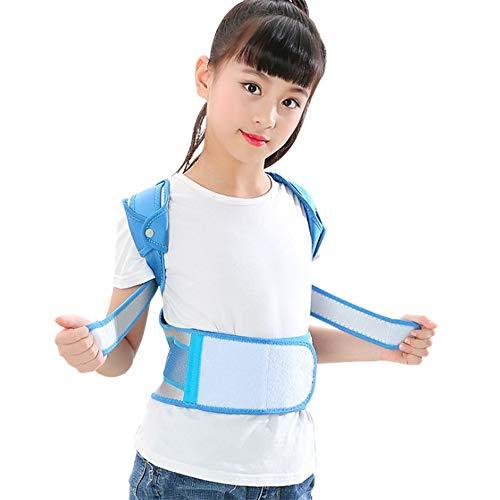 Zurück Lage-Korrektor, Einstellbare Obere Backs Glätteisen Unterstützung Brustkyphose for Kinder Schüler Teens Verbessern (Color : Blue, Size : M)