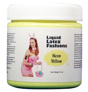 (Ammonia Free Liquid Latex Body Paint 8oz Neon Yellow by Liquid Latex Fashions)