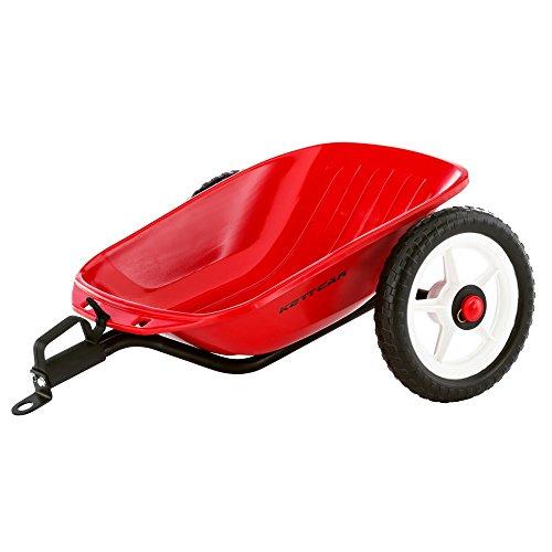 Kettler Kettcar Anhänger – tolles Tretauto Zubehör – ideales Extra für Kinderfahrzeuge – kompatibel mit allen Kettcar-Modellen (außer Indianapolis Air) – rot