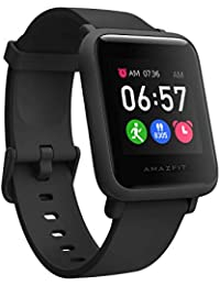 Amazfit Bip S Lite Smart Watch, 30 Days Battery Life, 150+ Watch Faces, Always-on Display, 30g Lightweight, 5 ATM Water Resistance, 8 Sports Modes (Charcoal Black)