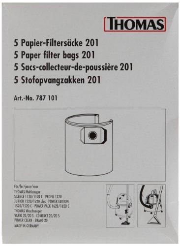 Thomas Papierfiltersack 201 Staubsaugerbeutel/passend für Modell PP 1620 C (Thomas-modell)