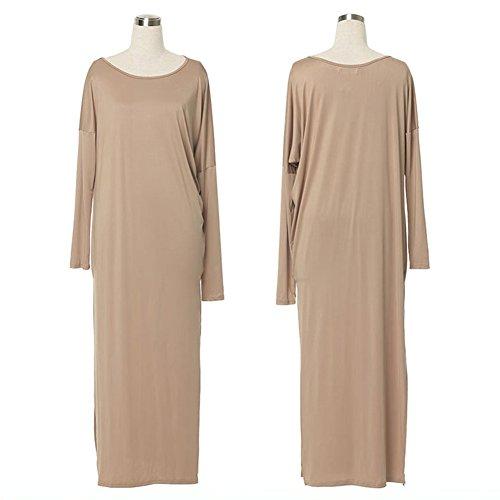 Robe de Soirée Longue pour Femme Robe de Chambre Robe de Soirée Boule Robe de bal Kaki