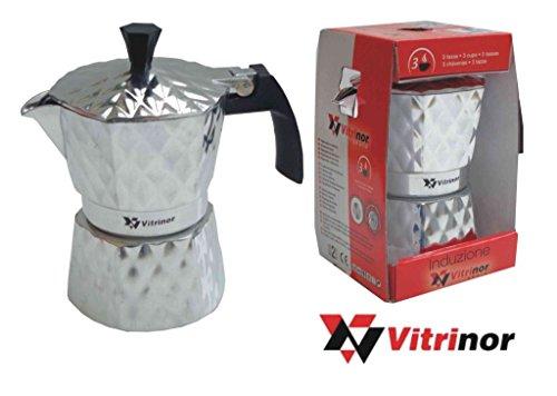 MACCHINA CAFFE' VITRINOR CAFFETTIERA RAPIDA 6 TZ. ALLUMINIO X INDUZIONE