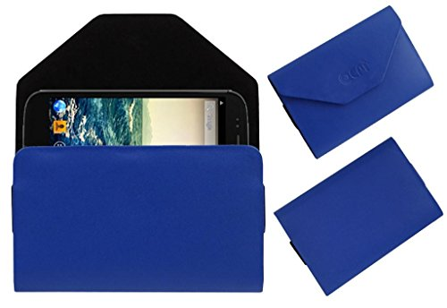 Acm Premium Pouch Case For Micromax Canvas 4 A210 Flip Flap Cover Holder Blue  available at amazon for Rs.179