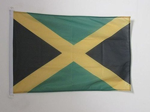 AZ FLAG Bandiera NAVALE Giamaica 45x30cm - Bandiera MARITIMA GIAMAICANA 30 x 45 cm Speciale nautismo