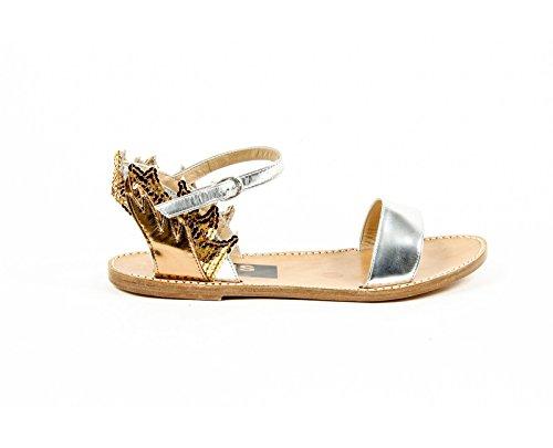 Golden Goose Womens Ankle Strap Flat Sandal G24D297 A1 Multicolore