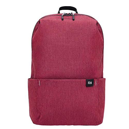 Mochila Xiaomi para hombre y mujer, 10 L, repelente al agua, para viajes, rojo