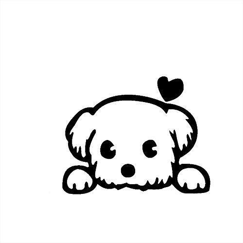 Demarkt 1x Hund Wandaufkleber für Schalter/Laptop Süße Dog Wandbilder aus PVC Fertige Größe 10 * 13.5cm, Wandtattoo Serie -