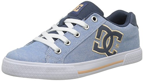 DC Shoes Chelsea Tx Se, Damen Flach Bleu (Navy White)