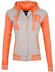 GIOVANI & RICCHI College Jacke Sweatjacke Zipper in mehreren Farben