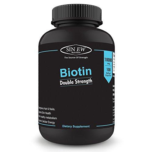 Sinew Nutrition Biotin 10,000mcg (Vitamin B7 For Hair, Skin & Nails) 100 Veg Softgels