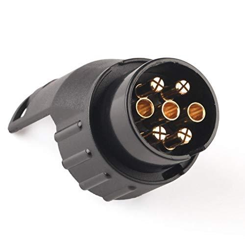 Leoboone 12V Tow Socket Car Trailer Truck 7 Pin to 13 Pin Plug Adapter Converter
