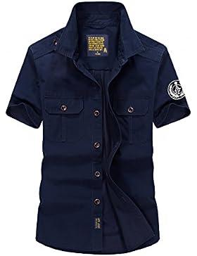 AFSJEEP - Camicia Casual - Con bottoni - Uomo Blue