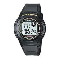 Casio Mens Quartz Watch, Digital Display and Rubber Strap F-200W-1A
