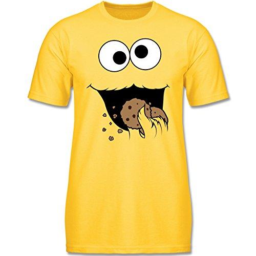 Kinder - Keks-Monster - 104 (3-4 Jahre) - Gelb - F140K - Jungen T-Shirt (Gruppen Von Drei Kostüme)