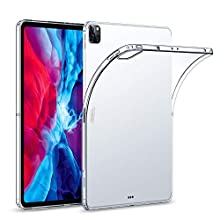 "ESR Case for iPad Pro 12.9"" 2020 & 2018, Rebound Soft Shell Case Clear TPU Back Cover for iPad Pro 12.9"" 2020,Clear"