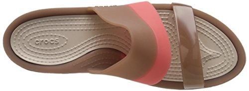 Crocs Colorblock W, Sandales - Femme Or (Bronze)