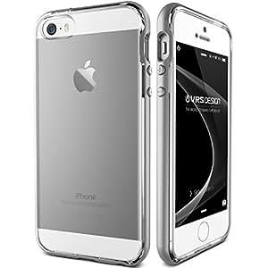 iPhone SE Case, VRS Design [Crystal Bumper][Satin Silver] - [Clear][Minimalistic][Slim Fit] - For Apple iPhone SE