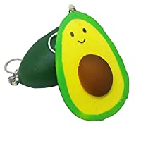 Rcool Cute Stress Reliever Squishy Squeeze Avocado Toy Super Slow Rising Soft Toy Cellphone Key Chain Charm Pendant Strap Child Gift