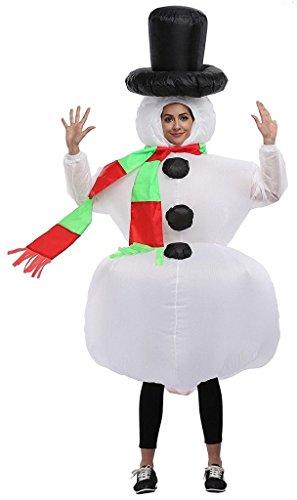 Aufblasbares Kostüm Schneemann Cosplay für Fasching Karneval (Schneemann Kostüme Für Erwachsene)