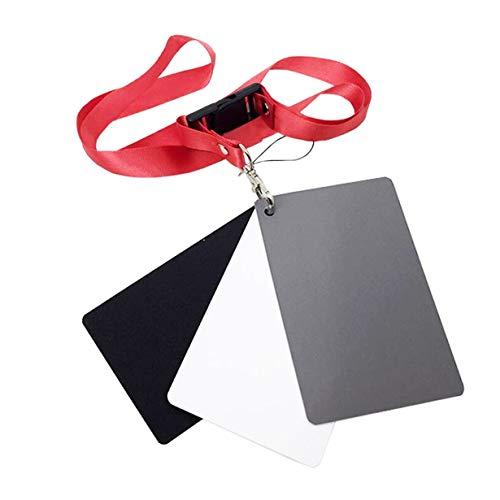 Grauweißabgleichskarte Two Sides Double Face Focus Board für Fotografie-Grey White-1 Größe
