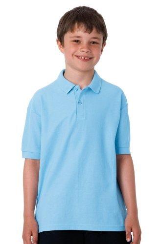 Jerzees Schoolgear Kinder Pikee Polo Shirt (5-6 Jahre) (Weiß)