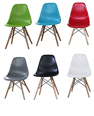 Charles Eames Eiffel Retro Dining Chairs Office Furniture Modern Lounge ABS produced by P&N Homewares - quick delivery from UK.