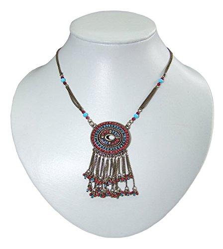 Herbert Hahn Indianer Halskette Mohawk im antiken Design - Toller Schmuck zum Indianer oder Indianerin Kostüm