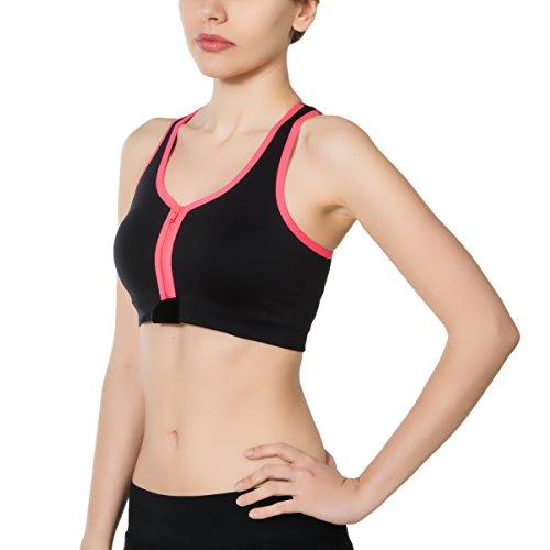 Jerf Femme Santos Mode Soutien-gorge de sport noir/rose fluo
