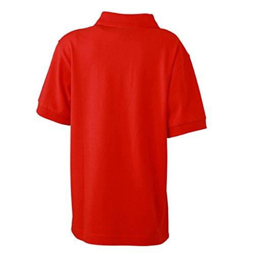 JAMES & NICHOLSON Hochwertiges Polohemd mit Armbündchen für Kinder Tomato