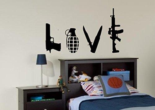 banksy-love-weapons-wall-decal-sticker-vinyl-bedroom-street-art-graffiti-medium-free-pp-by-pro-cut-g
