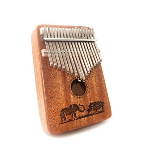 Kalimba 17 Key Thumb Piano, Finger Piano /Mbira 17 Töne Musikspielzeug mit Melodiehammer und Lernprogramm, Weihnachtsgeschenke für Kinderliebhaber Anfänger für Sie und Ihn