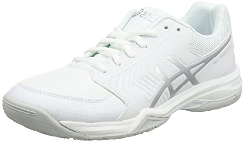 Asics Gel Dedicate 5 da uomo da tennis Multicolore Bianco/Silver 10 UK