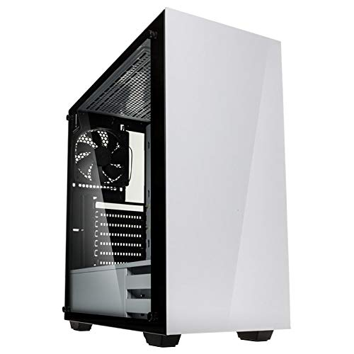 KOLINK Stronghold Midi-Tower - PC-Gehäuse - Tempered Glass Seitenfenster - ATX - weiß