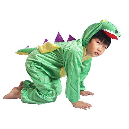 Kostüm Dinosaurier Tanz - Byjia Kinderkarikatur Dinosaurier Siamese Set Kollektion Kinder Kostüm Schule Spiel Party Bekleidung Jungen Mädchen Tragen Kinder Bühnenaufführungen 1# 100Cm