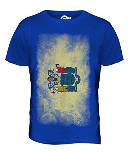 CandyMix Bundesstaat New Jersey Verblichen Flagge Herren T Shirt Königsblau