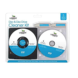 London Empire ® CD DVD Disc Drive Cleaner Cleaning Set Fluid Laser Lens Laptop Computer Wii Xbox