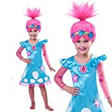 pequeños monelli Traje Elektra yt7b-bs niña años Vestido de Carnaval con Peluca incluida 6 7 Anni 130 Altezza Bimba Turquesa