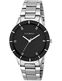 Laurels Colors Black Dial Analog Wrist Watch - For Women