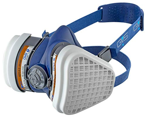 GVS SPR496 Elipse A2P3, Masque de Protection Peintures et Solvants, avec filtres remplaçables et Réutilisables Inclus