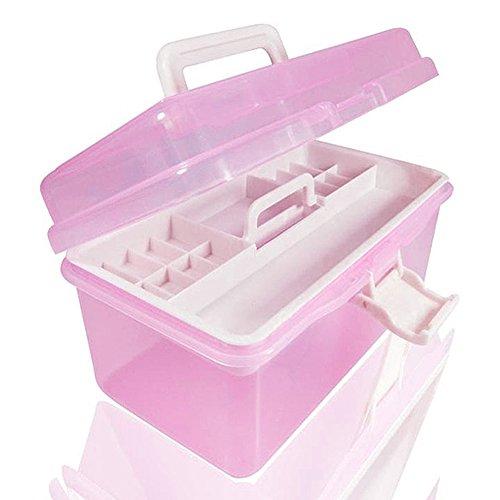Caja plástico dos zonas almacenamiento tamaño 20