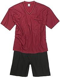 Adamo Fashion XXL Pijama corto en burdeos