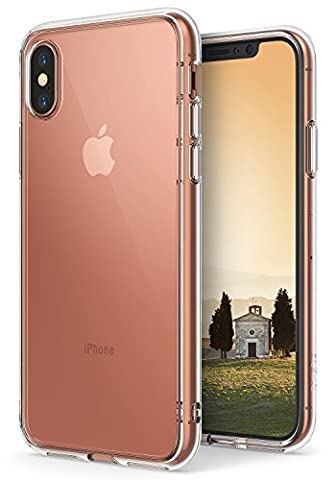 iPhone X Case, Ringke [FUSION] Crystal Clear Transparent PC Back TPU Bumper [Drop Protection/Shock Absorption Technology] Scratch Resistant Natural Shape Protective Cover For Apple iPhoneX - Clear
