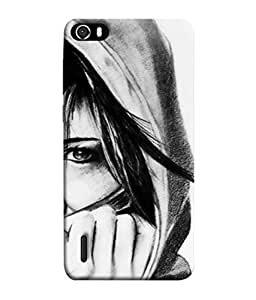 Snapdilla Designer Back Case Cover for Huawei Honor 6 (Young Female Graphic Life Design Illustration Backcover)