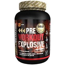 GoldNutrition Pre-Workout Explosive Suplemento para Deportistas, Sabor Naranja - 1000 gr